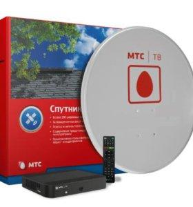 Установлю спутниковый комплект МТС,НТВ+,Трик и т.д