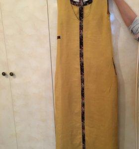 Льляное летнее платье