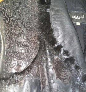 Куртка-полупальто кожаная