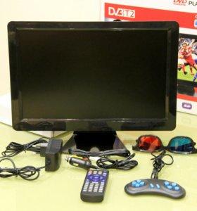 Портативный телевизор с DVD-плеером, DVBT2
