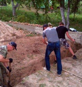 Земляные, бетонные, дачные работы