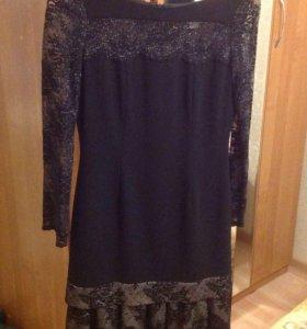Шикарное Вечернее черное платье 44 размера