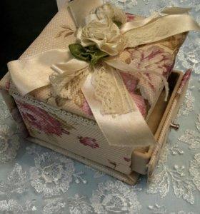 Шкатулка подарок для украшений