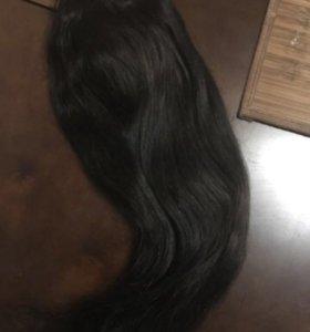 Волосы натуральные на клипсах