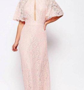 Вечерние кружевное платье