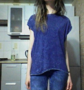 Блуза TERRANOVA футболка синяя НОВАЯ