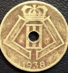 Монета Бельгии, 5 сантимов 1938