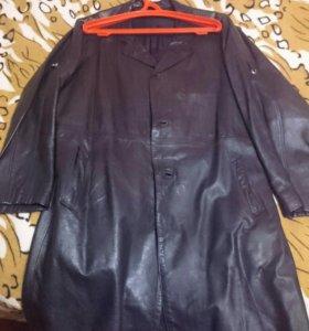 Пальто мужское, кожаное