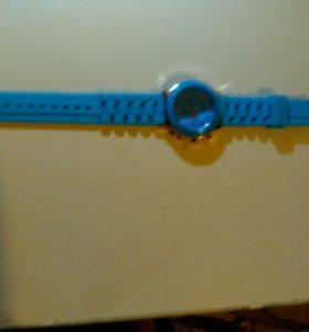 Часы силиконовые голубые