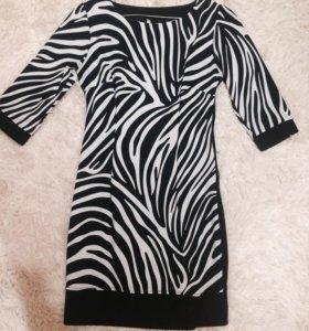 Платье (темно-синее с белым )