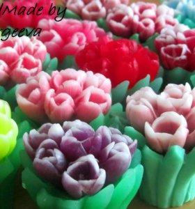 Тюльпаны, мыло