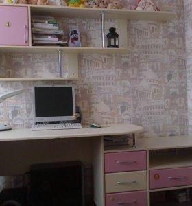 Рабочий ( компьютерный ) стол с ящиками и полкой