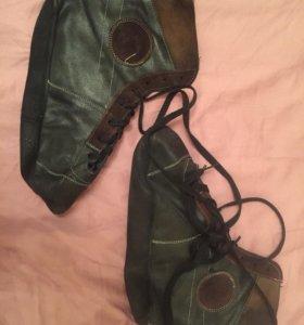 Борцовки (самбовки) кожаные на кожаной подошве