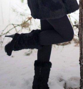 Сапоги зима натур. Замша и мех