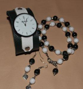 Часы,колье и серьги