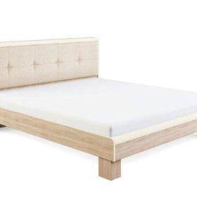 """""""Оливия"""" Кровать с мягкой спинкой 1,6"""