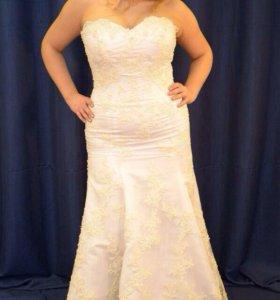 👍кружевное свадебное платье