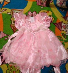 Платье для маленькой принцессы,новое!