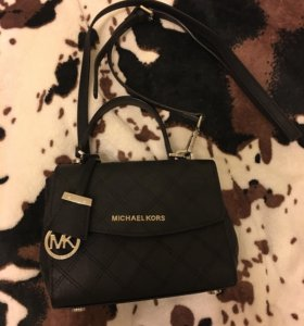 michael kors ava small black