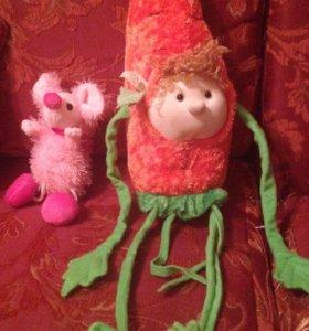 Игрушки говорящая морковка и милая мышка