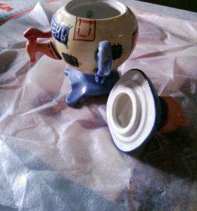 Декоративный керамический чайник для хранения чая