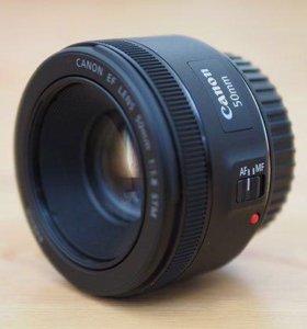 Обьектив Canon EF50-1.8 (состояние нового)