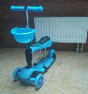 Самокат трехколесный скутер, доставка бесплатно