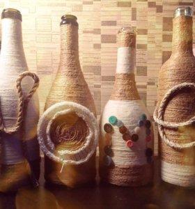 Декоративные бутылочки ручной работы