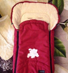 Продаётся спальный мешок на овчине в коляску,санки