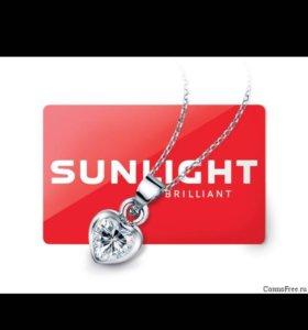 Кулон подвеска сердечко от Sunlight