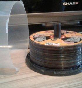 Подставка под диски с крышкой