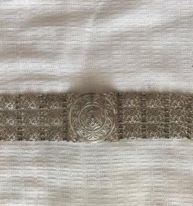 Якутский браслет серебро
