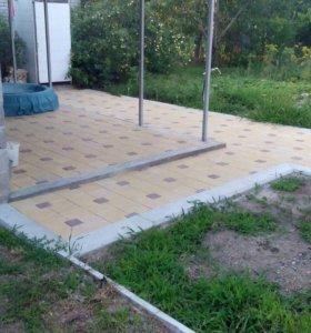 Вибролитая тротуарная плитка квадрат универсал