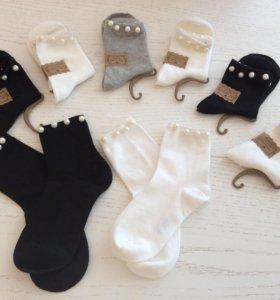 Женские носки с жемчугом