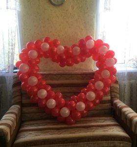 Сердце из шаров.