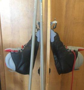 Лыжи детские, размер ботинок 35