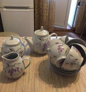 Чайный сервиз фарфоровый,новый,Рижский...на 6 перс