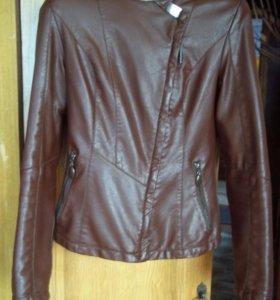 Кожаная куртка(утепленная)