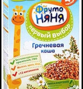 Фрутоняня гречневая и рисовая каша безмолочная