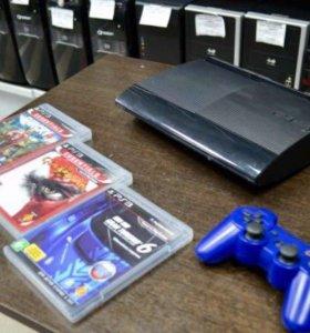 PlayStation 3 500Gb+ 3 диска с играми