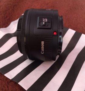 Объектив canon 50mm 1.8 + поляризационный фильтр