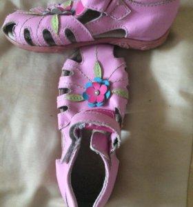Туфли сандалии Нат. Кожа р 26