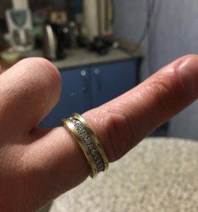 Кольцо BVLGARI золото белое, золото желтое 27 брил