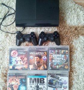 Игровая приставка PS3 супер слим 500 Гб
