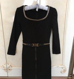Элегантное черное платье(надето 1раз) Турция