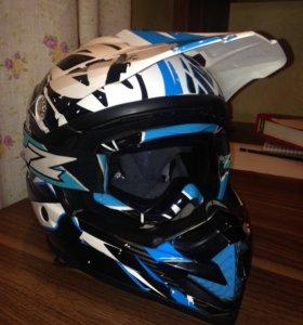 Кроссовый шлем + очки