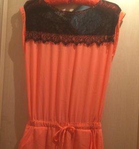 Платье,цвет оранжевый