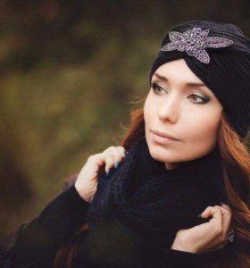 Тюрбан, женская шапка, тёплый тюрбан