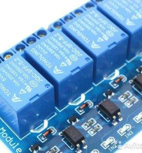 Модуль реле 4-х канальный для Arduino новый