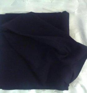 Отрез тонкой черной шерстяной ткани